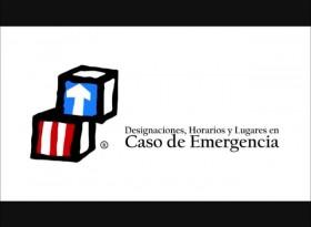 6 -- Designaciones, Horarios y Lugares en Caso de Emergencia